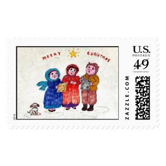 Old-time Caroling Stamps