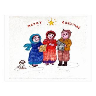 Old-time Caroling Postcards