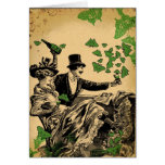 Old Time Carousing Greeting Card