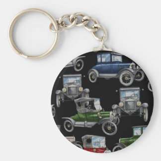 Old Time Cars Keychain