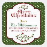 Old Time Christmas Address Sticker