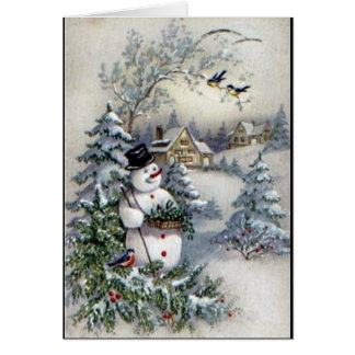 OLD TIME CHRISTMAS CARD