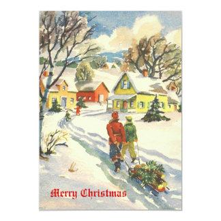 Old Time Christmas Holiday Card