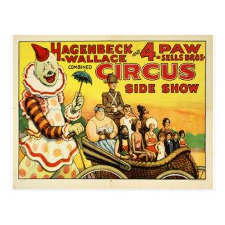 Old time Circus Postcard