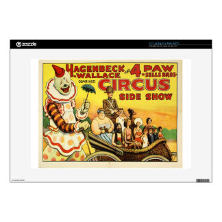 "Old time Circus Skin For 15"" Laptop"