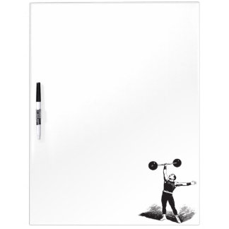 Old Time Circus Strongman Dry Erase Board