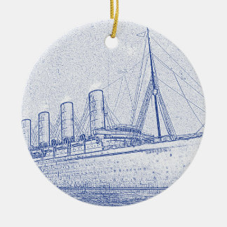 Old-Time Cruise double-sided Ceramic Ornament