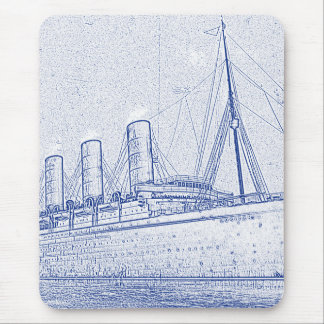 Old-Time Cruise Mouse Pad