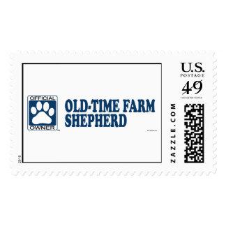 Old-Time Farm Shepherd Blue Stamp
