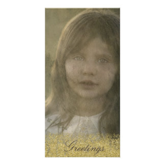 Old Time Gold Embellished Photo Card
