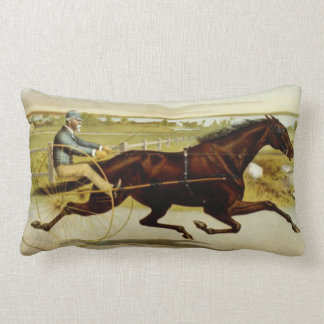 Old time horse and chariot with rider throw pillow