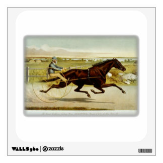 Old time horse and chariot with rider room sticker