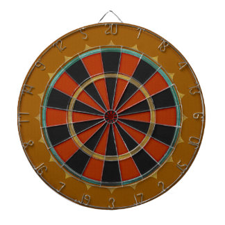 Old-Time Leather Big Top Dartboard With Darts