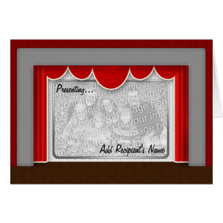Old Time Movie Theatre Photo Template Card