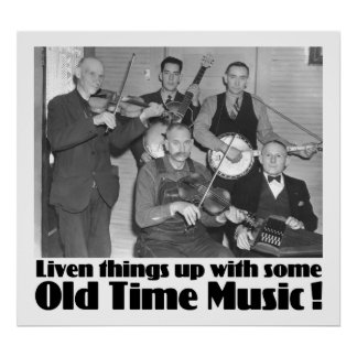 Old Time Music Poster