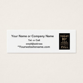 old time pay toilet mini business card