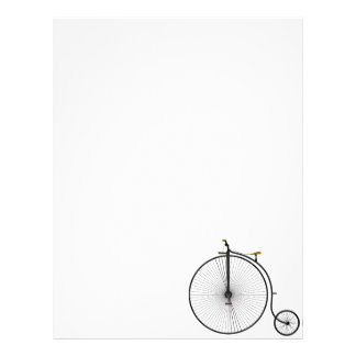 Old Time Penny Farthing bicycle Letterhead