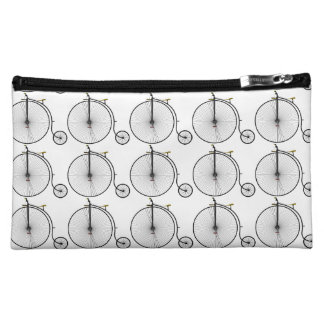 Old Time Penny Farthing bicycle Makeup Bag