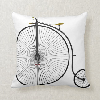 Old Time Penny Farthing bicycle Throw Pillow