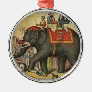 old time performing elephant christmas ornament