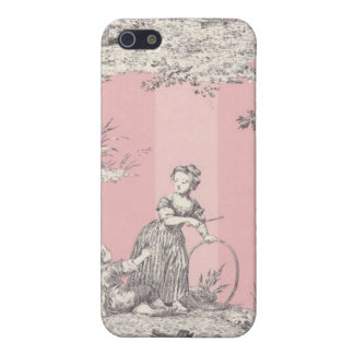 Old Time Pink Striped Toile Cover For iPhone SE/5/5s
