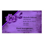 Old TIme Purple Rose Floral Set Double-Sided Standard Business Cards (Pack Of 100)