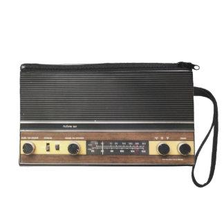 Old Time Radio Wristlet Purse
