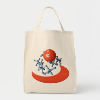 Old Time Retro Toy Jacks and Ball Set Tote Bag