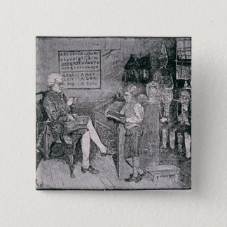 Old-Time School in Pennsylvania Pinback Button