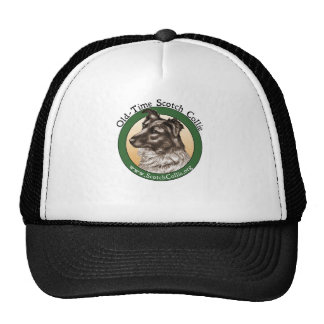 Old Time Scotch Collie Head Trucker Hat