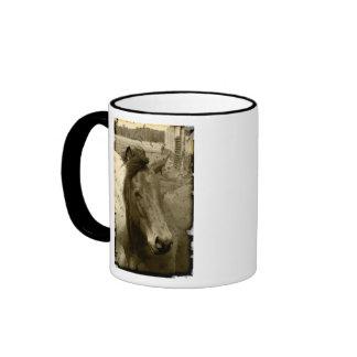 Old Time Sepia Horse Photograph Coffee Mug