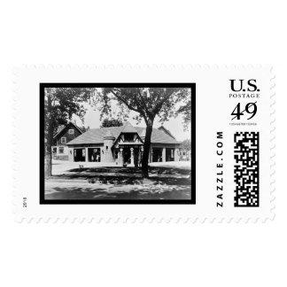 Old Time Service Station 1911 Postage Stamp