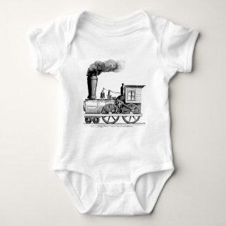 Old Time Steam Locomotive Baby Bodysuit