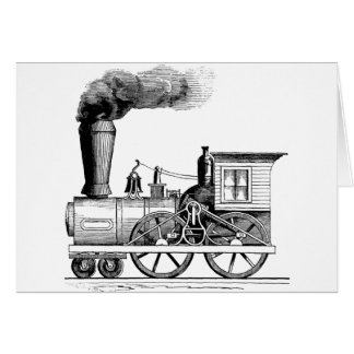 Old Time Steam Locomotive Greeting Card