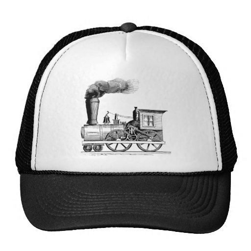 Old Time Steam Locomotive Hats