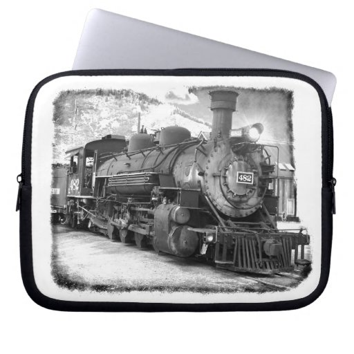 Old Time Steam Locomotive Computer Sleeves