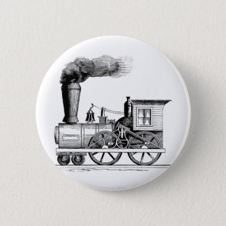 Old Time Steam Locomotive Pinback Button