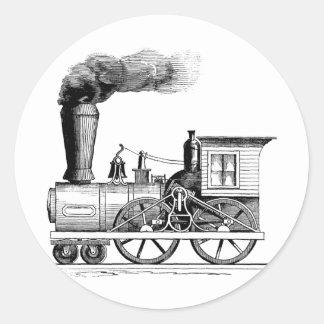 Old Time Steam Locomotive Classic Round Sticker