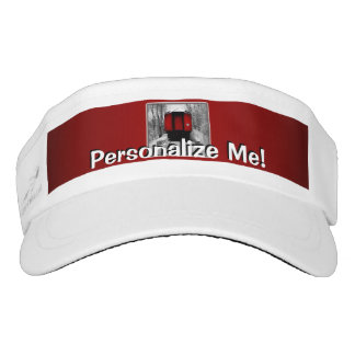 Old Time Steam Train Red and Black Headsweats Visor