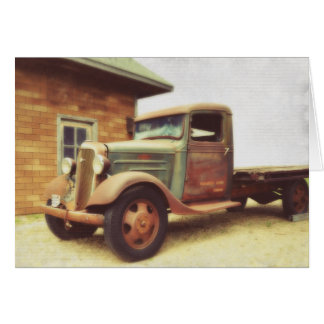 Old Time Truck Card