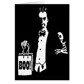 Old Time Vampire Trick-or-Treater Greeting Card