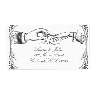 Old time Victorian wedding labels