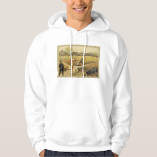 Old Time Vintage Baseball Game in 1887 Hoodie