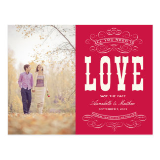 OLD TIME VINTAGE | SAVE THE DATE ANNOUNCEMENT POSTCARD