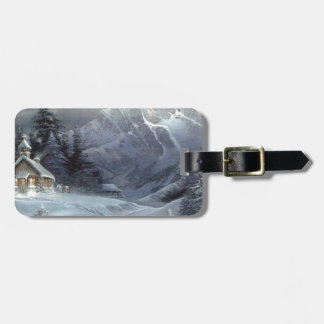 Old Time Winter Tags For Luggage