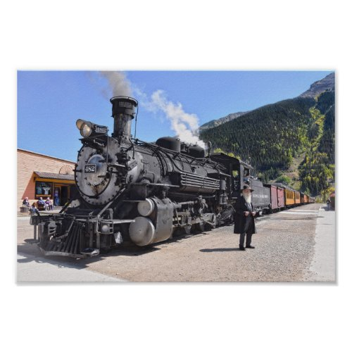 Old Timer at the Silverton, Colorado, Train Stop Poster