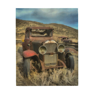 Old timer automobile wood canvas