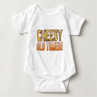 Old Timer Blue Cheesy Baby Bodysuit
