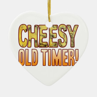 Old Timer Blue Cheesy Ceramic Ornament