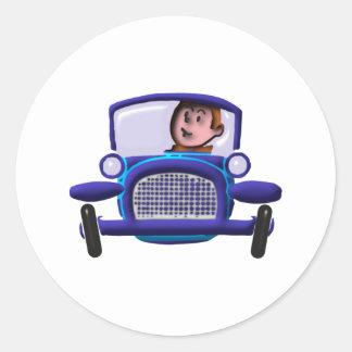 Old timer car car classic round sticker